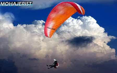 Fun and exciting flight with a paraglider