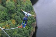 Exciting sports bungee jumping