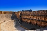 Das alte Theater Aspendos in Antalya